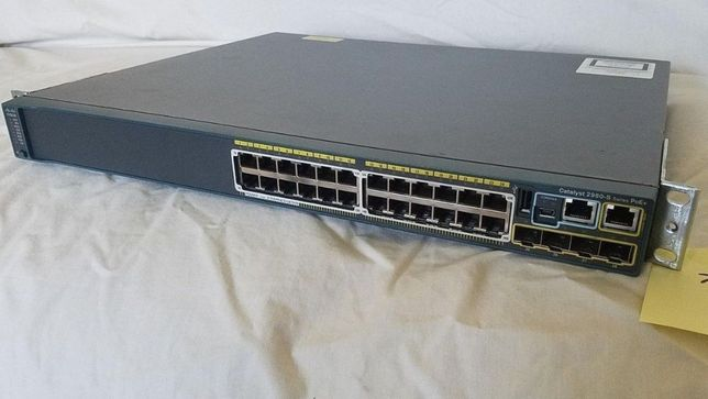 Switch Gigabit PoE Cisco Catalyst 2960S WS-C2960s-24PD-L SFP+ 10Gbps