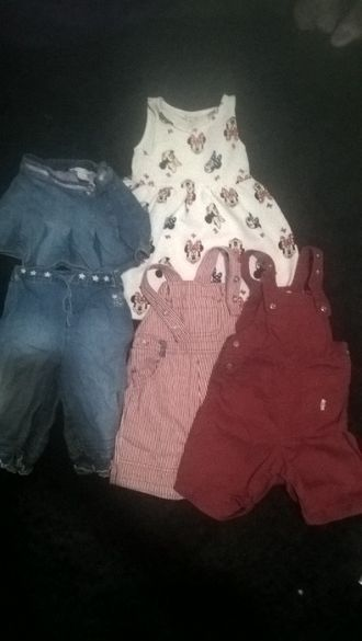 Дрешки за момиче 1-2 г. H&M пола,гащеризони, рокля, панталони