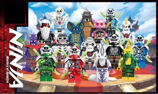 Set 16 minifigurine tip LEGO Ninjago, Unagami, Lloyd, Pythor, Kruncha