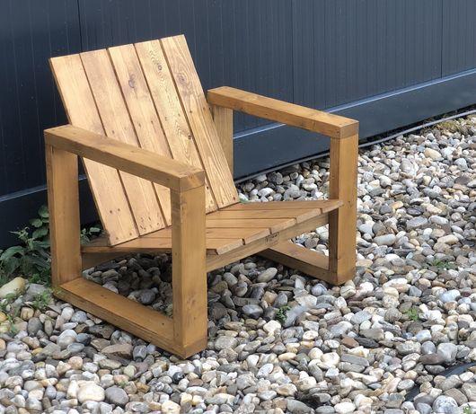 Fotoliu / scaun confortabil pentru terasa sau gradina, lemn masiv