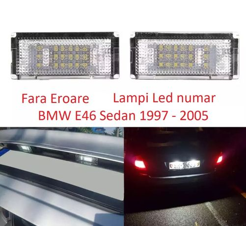 Set 2 lampi LED numar dedicate 6000k BMW E46 Sedan 1997 - 2005
