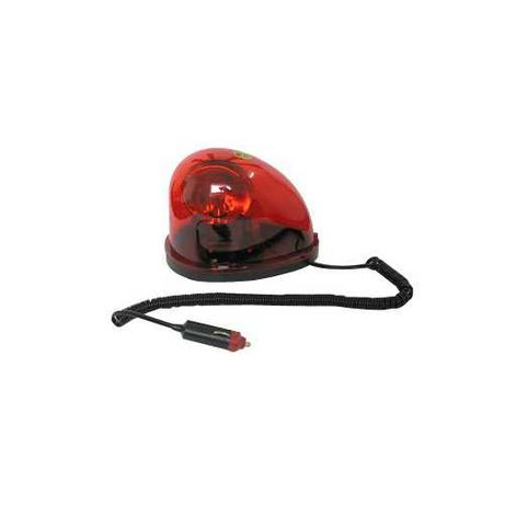 "Аварийна лампа/маяк, авариен буркан тип ""капка"" с магнит 12V/24V"