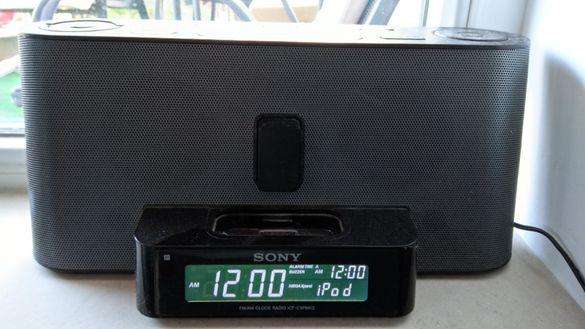 ↓Мощна док станция за iPhone Ipod Sony ICF-C1IPMK2 цифрово радио