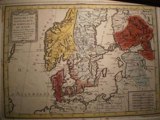 Harta 1753 acuarela J.B.Nolin