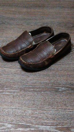 Подростковые кожаные туфли