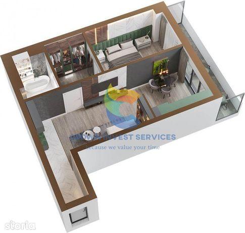 Apartament 2 camere, etajul 1, zona Sadoveanu, Copou, 55,6+8,9mp