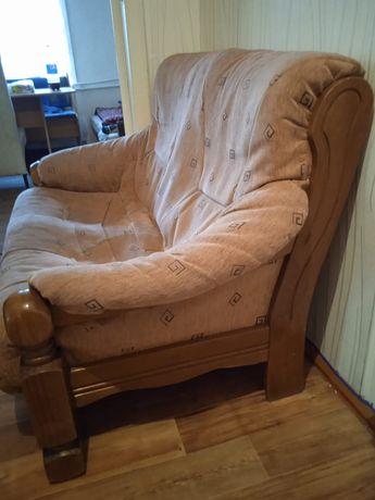 Мини диван и кресло Италия. Дерево.
