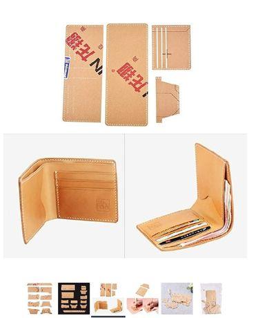 шаблон за мъжки портфейл, портмоне, кожарска, сарашка кройка, ново