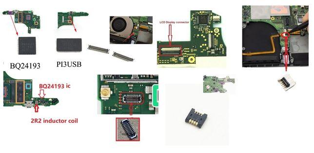 Piese Nintendo switch cip pi3usb bq24193 mufe card baterie led lcd etc