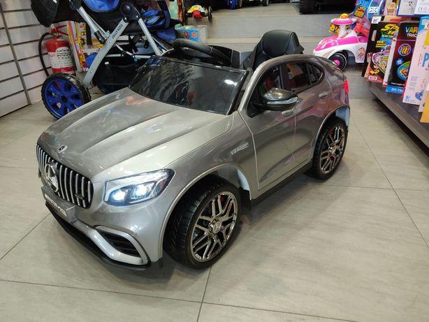 Masinuta Electrica Mercedes GLC 63S Silver Metalizat, 45W X 2 Motoare