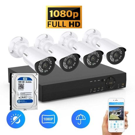 Kit supraveghere video 3Mpx 4 camere + HDD 500GB Exterior Color IR60M