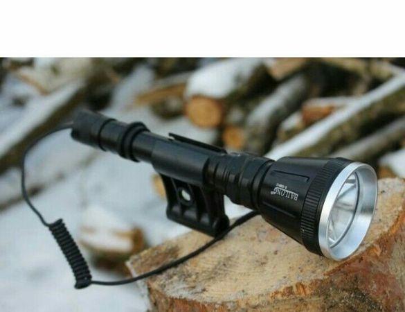 Мощен ловен фенер BL-Q3888-T6 за монтаж на оръжие, фенера е окомплекто
