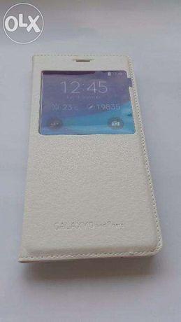 Husa Alba Samsung Galaxy Grand Prime Toc Flip Smart Cover S-View