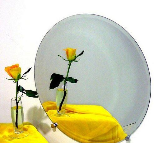 Зеркало круглое, с основанием