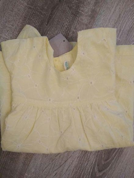 Детска лятна памучна рокля Benetton