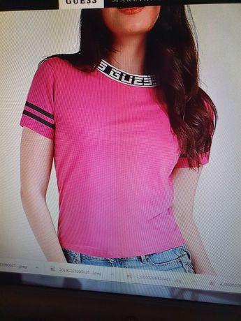 Tricou roz Guess original etichete