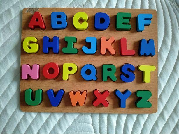 Деревянный Алфавит деревянный,  Английские буквы
