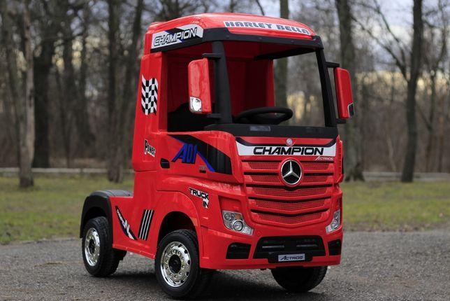 Camion electric pentru copii Mercedes Actros 4x4 24V #Rosu