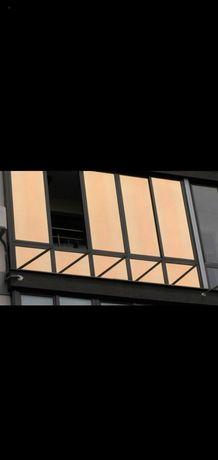 Тонировка окон витрин балкона