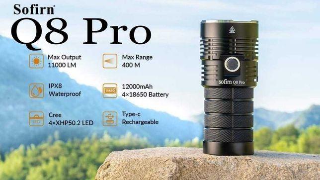 Lanterna LED Sofirn Q8  PRO 11000 lumeni incarcare USB-C + Husa