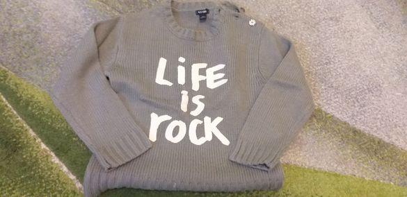 Дебел , модерен пуловер за момче