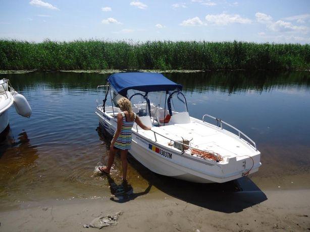 Vand barca Baseboat (Hajobazis Ungaria) an 2011, motor Honda 90 cp