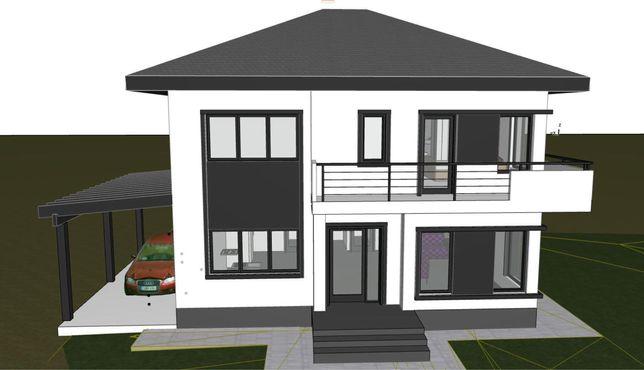 Casa individuala Jucu de Mijloc Zona Panemar 500mp teren 8km-aeroport