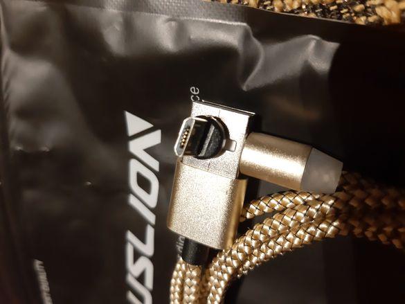 Магнитен кабел за зарядно телефон микро usb и Type C