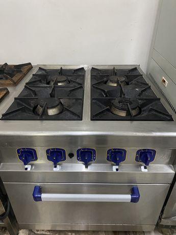 Плита газовая с духовкой пройзводственная