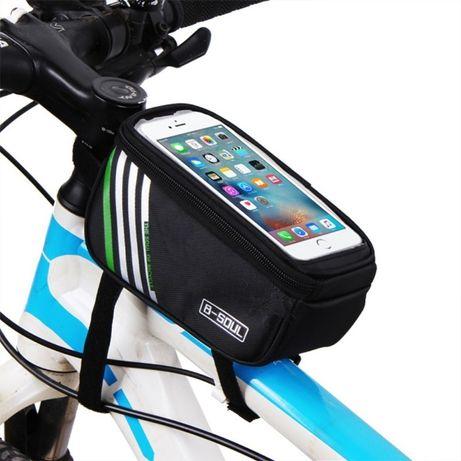 "Borseta cadru geanta bicicleta cu husa telefon 6"" si spatiu depozitare"