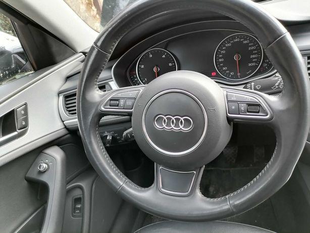 Volan 3 Spite comenzi Audi A6 4g 2012 complet cu airbag fara padele