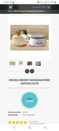 "Vând aparat ""Ridcell Demset"" pentru masaj anticelulitic"