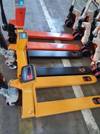 Transpalet Manual Liza cu Cantar Electronic 2000kg 2500kg 3000kg