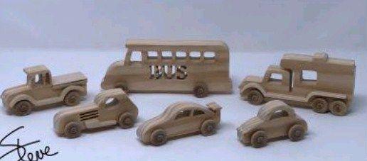 set 6 masinute din lemn