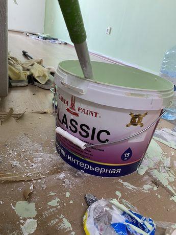 Эмульсия- акриловая краска для стен