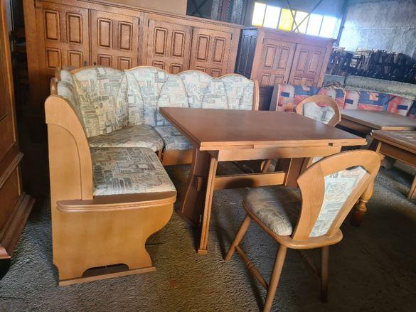 Ъглов диван +маса + стол - внос от Европа