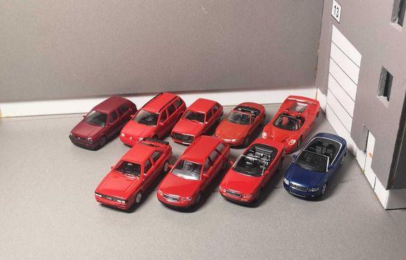 Колички Herpa & Busch Audi, VW, Mazda, Opel & Ferrari 1:87