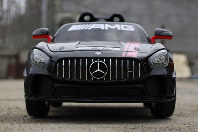 Masinuta electrica pentru copii Mercedes GT-R 2x25W 12V NOUA #Negru