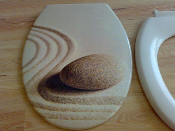 Седалка и капак за плавно падане за тоалетна чиния-МДФ
