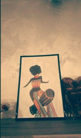 Tablou afro women desenat de mână