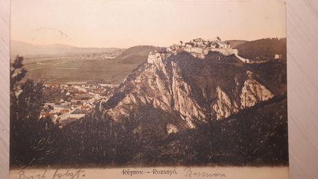 Carte postala f.veche 1908, Rasnov,circulata, cu timbru