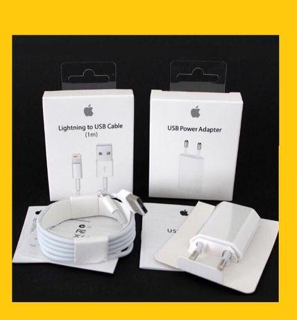 100% Оригинал Зарядка на iPhone (Айфон) 5/5s/6/6s/6+/7/8/X + Гарантия!