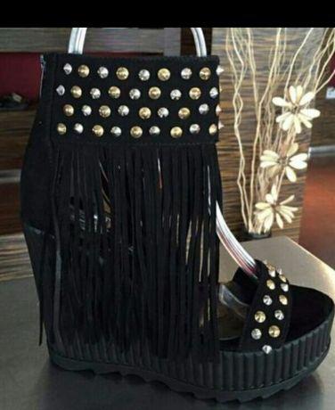 Дарис Daris  Нови сандали на платформа естествена кожа и обувки