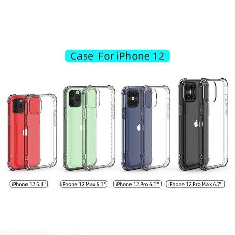 Iphone 11 12 MINI / PRO / MAX - Husa Silicon Anti Soc Transparenta