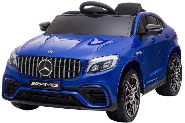 Masinuta electrica Mercedes GLC63s 70W 12V cu Scaun Tapitat #Albastru
