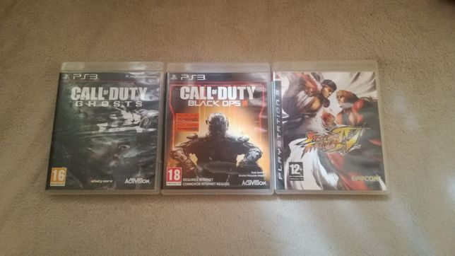 PS 3. Call of duty ghost.call of duty black ops 3.street fighter 4