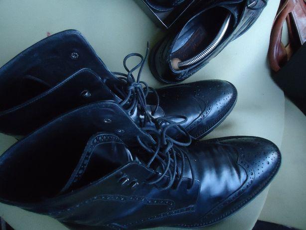 Ботинки Высокие Мужские DI PAOLO Италия Оригинал 100% Кожа 42,5-43р.