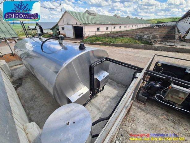 Tanc racire lapte 7000 litri Alfa-Laval cu spalare automata - Montaj