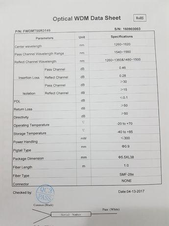 Filtru wdm pentru retele de fibra optica