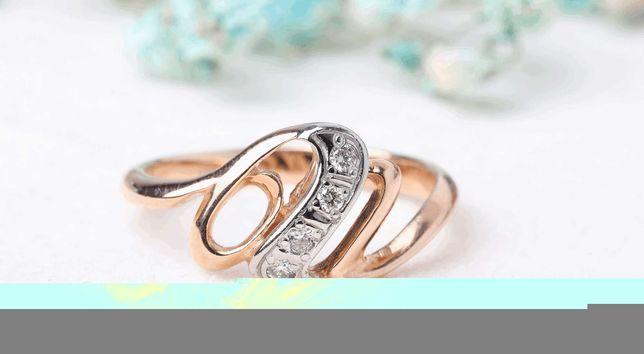 0% Кольцо с камнями , золото 585 Россия, вес 2.33 г. «Ломбард Белый»